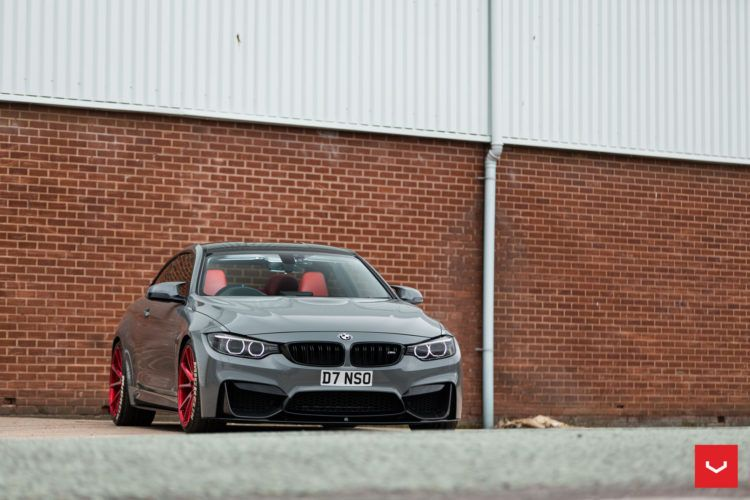 BMW M4 on Red Vossen VFS 1 Wheels 3 750x500