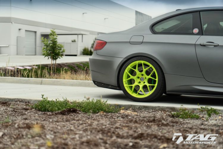 A BMW E92 M3 With Brushed Green HRE Wheels 4 750x501