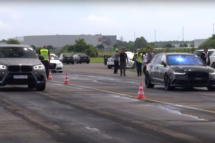 Video: G-Power BMW X5 M Drag Races Alles op lege luchtstrook
